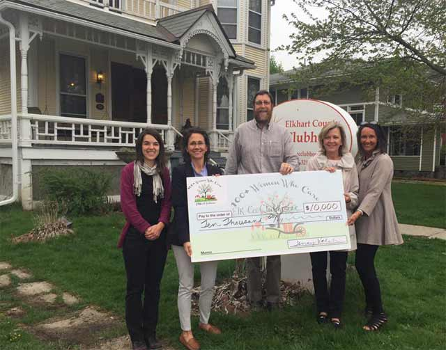 Elkhart County Clubhouse Check Presentation