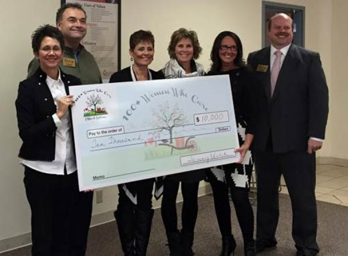 100 women who care Elkhart Check Presentation
